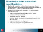 unconscionable conduct and small business