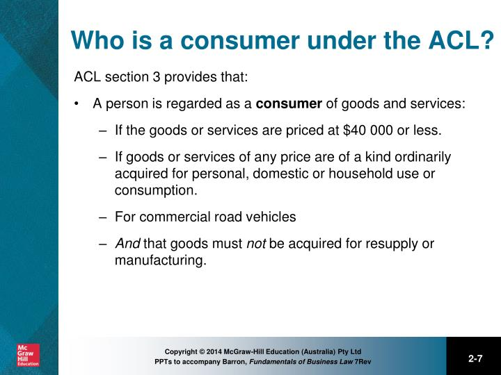 who is consumer business law