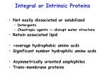 integral or intrinsic proteins