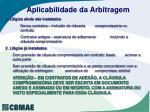 aplicabilidade da arbitragem