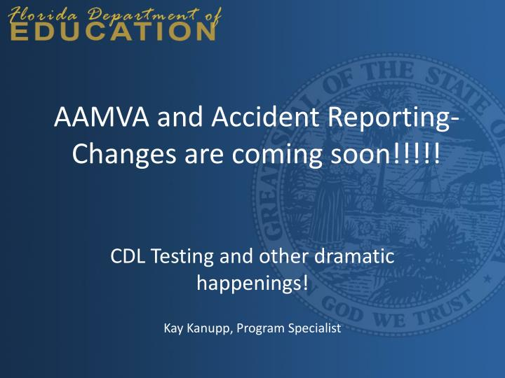 aamva and accident reporting changes are coming soon n.