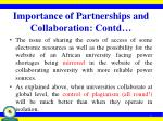 importance of partnerships and collaboration contd1