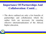 importance of partnerships and collaboration contd2