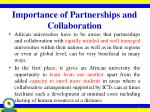 importance of partnerships and collaboration
