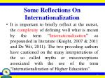 some reflections on internationalization