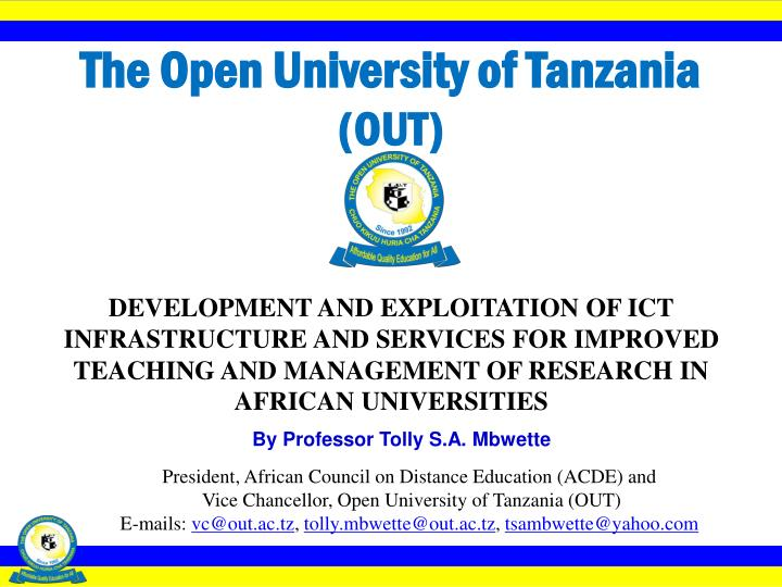 the open university of tanzania out n.