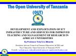 the open university of tanzania out