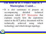 the role of ict policy and ict masterplan contd1
