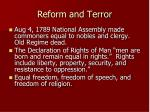 reform and terror
