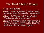 the third estate 3 groups