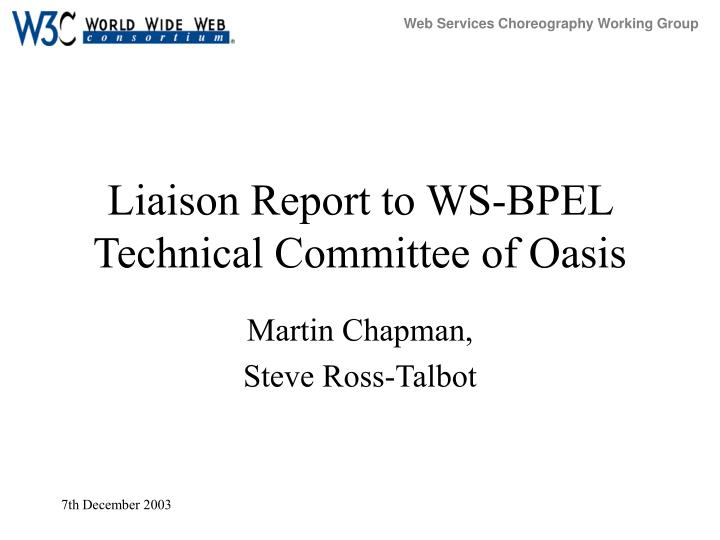 liaison report to ws bpel technical committee of oasis n.