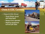 class a cdl careers