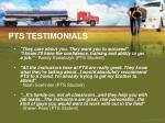 pts testimonials