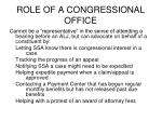 role of a congressional office