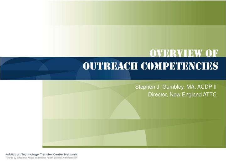 overview of outreach competencies n.