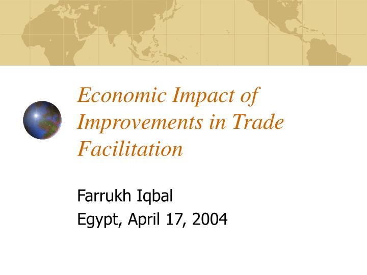 economic impact of improvements in trade facilitation n.