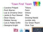 town first team