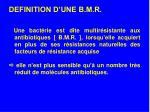 definition d une b m r
