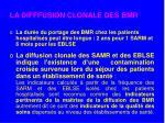 la difffusion clonale des bmr
