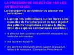 la pression de selection par les antibiotiques1