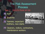the risk assessment process4