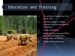 education and training1