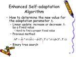 enhanced self adaptation algorithm3