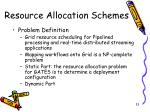 resource allocation schemes