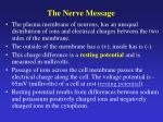 the nerve message