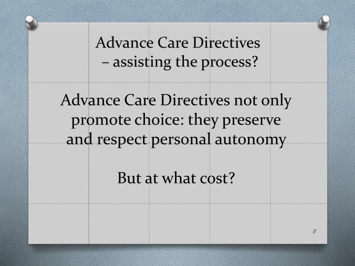 Advance Care Directives
