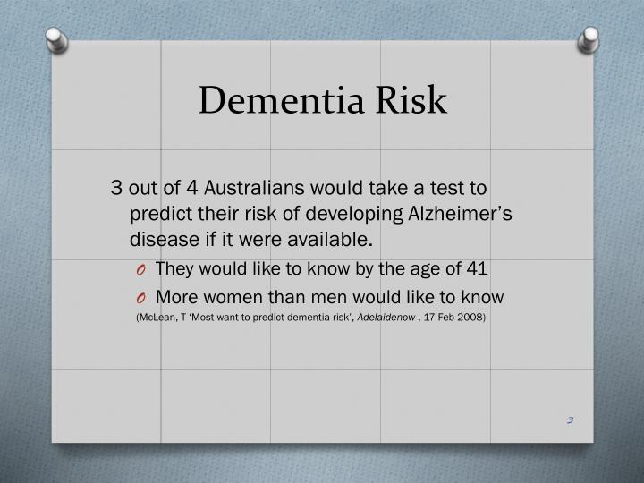 Dementia risk