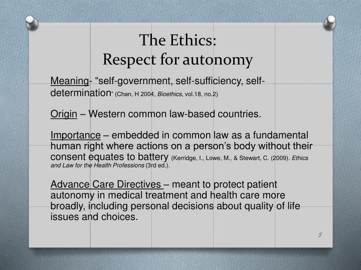 The Ethics: