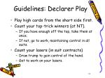 guidelines declarer play