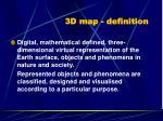 3d map definition