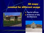 3d maps created for different usage4