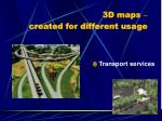 3d maps created for different usage5