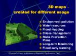 3d maps created for different usage9