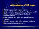 advantages of 3d maps