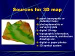 sources for 3d map