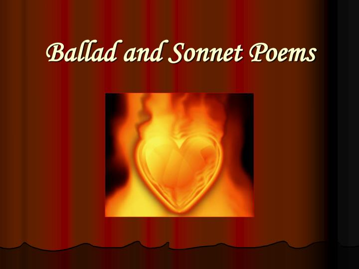ballad and sonnet poems n.