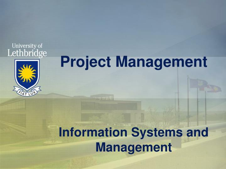 project management information systems and management n.