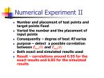numerical experiment ii
