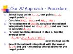 our ri approach procedure