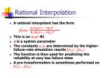 rational interpolation