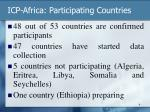 icp africa participating countries
