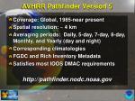 avhrr pathfinder version 5