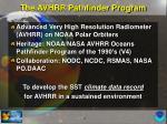 the avhrr pathfinder program