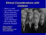 ethical considerations with children