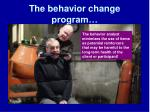 the behavior change program