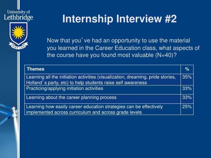 Internship Interview #2